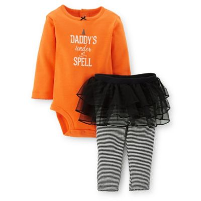 Carter's® Size 6M 2-Piece Daddy's Under My Spell Tutu Legging Set