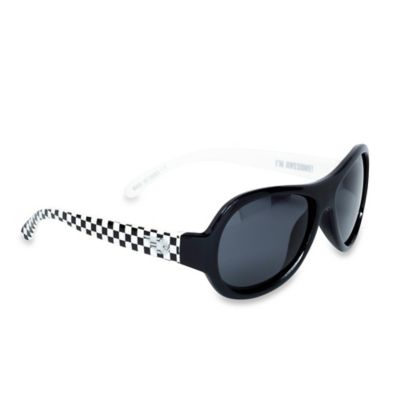 Babiators® Classic Polarized Toddler Sunglasses in Black and White Checks