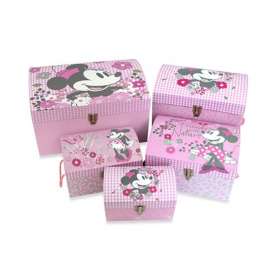 Minnie Mouse Retro Nested Dome Trunks (Set of 5)