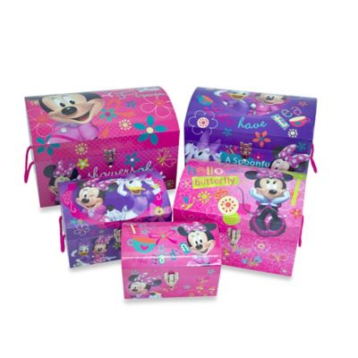 Minnie Mouse Mod Nested Dome Trunks (Set of 5)