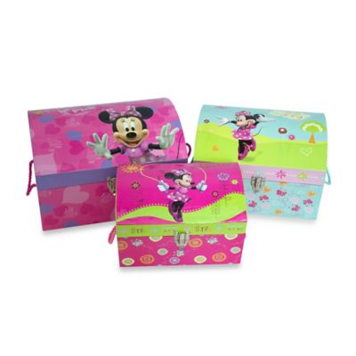 Minnie Mouse Nested Dome Trunks (Set of 3)