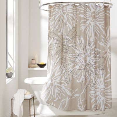 DKNY City Garden Cotton Shower Curtain