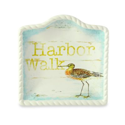 Certified International Beach Cottage by Susan Winget Seagull Canape Plate