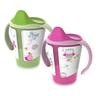 Born Free® 6 oz. Training Cups in Pink/Green (Set of 2)