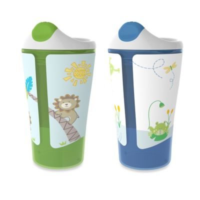 Born Free® 10 oz. Sippy Cups in Green/Blue (Set of 2)