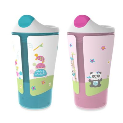Born Free® 10 oz. Sippy Cups in Blue/Pink (Set of 2)