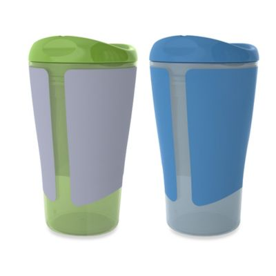 Born Free® 10 oz. Big Kid Cups in Green/Blue (Set of 2)