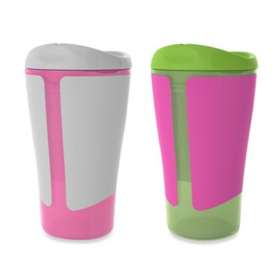 Born Free® 10 oz. Big Kid Cups in Pink/Green (Set of 2)