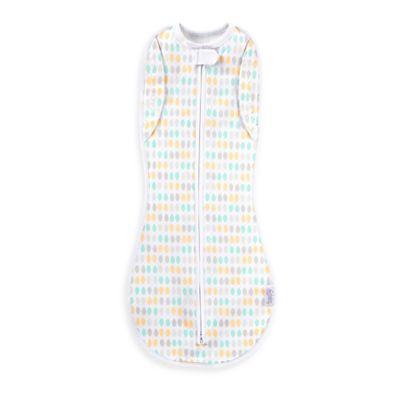 Comfort & Harmony® Woombie™ Size 0-3M Peanut Convertible Swaddle™ in Restful Raindrops