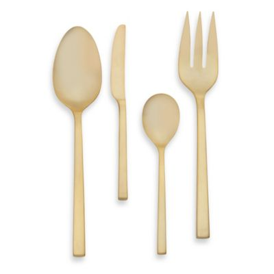 Flatware Hammerred Hostess Set