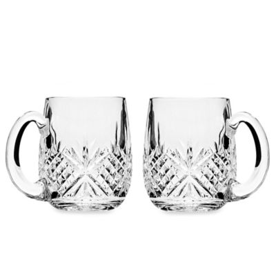 Godinger Dublin Crystal Beer Mug (Set of 2)