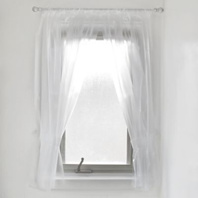 Buy vinyl window curtains from bed bath beyond for Bathroom window curtains