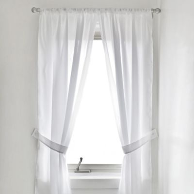 Buy shower window curtains from bed bath beyond for Bathroom window curtains
