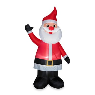 Inflatable Outdoor Santa with Red Nose