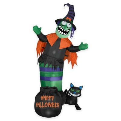 Inflatable Outdoor Animated Wobbling Witch Scene