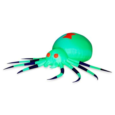 Inflatable Outdoor Neon Green Spider