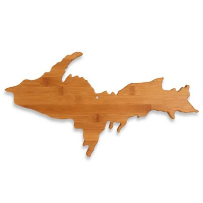 Totally Bamboo Upper Peninsula of Michigan Cutting/Serving Board
