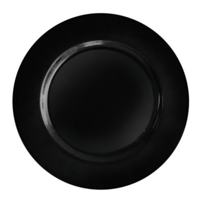 Jay Round Charger Plate in Black Dinnerware
