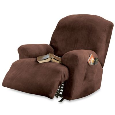 Sure Fit® Stretch Sterling Recliner Slipcover in Mocha