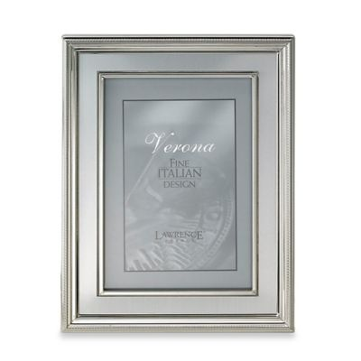 Lawrence Frames4-Inch x 6-Inch Silver-Plated Picture Frame with Brushed Inner Panel