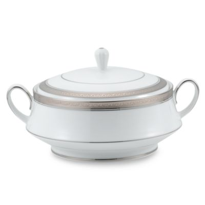 Noritake® Crestwood Platinum 64-Ounce Covered Vegetable Dish