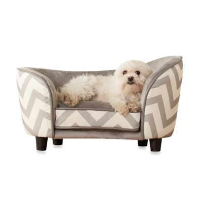 Enchanted Home Pet Chevron Snug Small Dog Bed in Grey