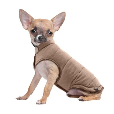 Pawslife™ Faux Suede/Fur Size Medium Pet Coat in Tan