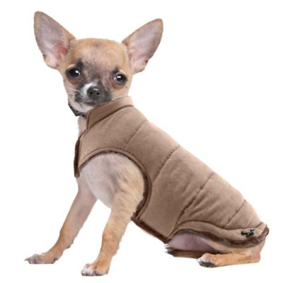 Pawslife™ Faux Suede/Fur Size Large Pet Coat in Tan