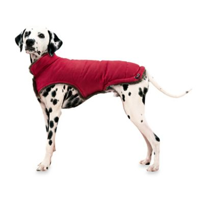 Pawslife™ Faux Suede/Fur Size Large Pet Coat in Red