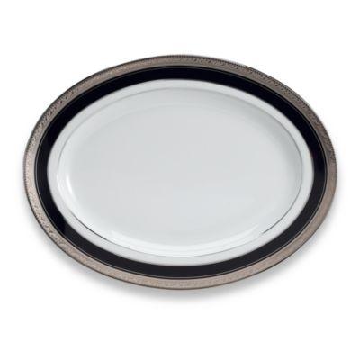 Noritake® Crestwood Cobalt Platinum 12-Inch Oval Platter