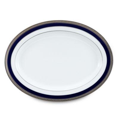 Noritake® Crestwood Cobalt Platinum 16-Inch Oval Platter
