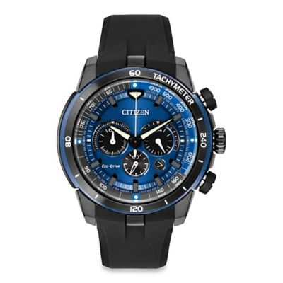Citizen Eco-Drive Men's 48mm Ecosphere Chronograph Watch with Blue Chroma Finish