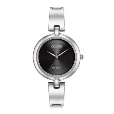 Citizen Ladies' Eco-Drive Silhouette Bangle Watch in Silver