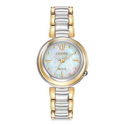 Citizen Eco-Drive Ladies' 30mm Sunrise Watch in Two-Tone Stainless Steel