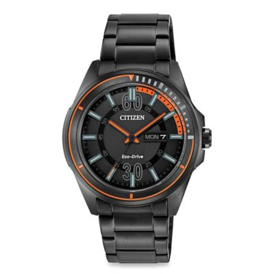Citizen Men's Eco-Drive HTM Black Stainless Steel Watch