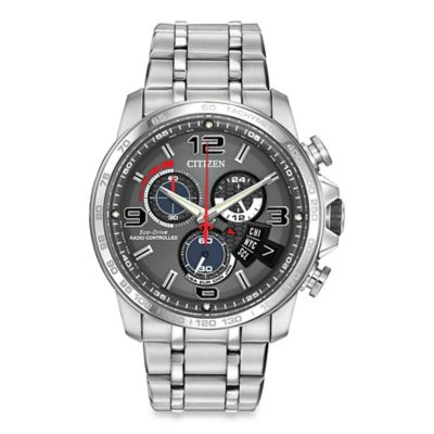 Citizen Men's Eco-Drive Chronograph Time AT Stainless Steel Watch