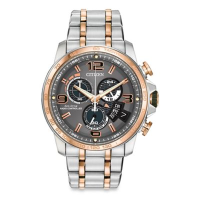 Citizen Men's Eco-Drive Chronograph Time AT Two-Tone Stainless Steel Watch
