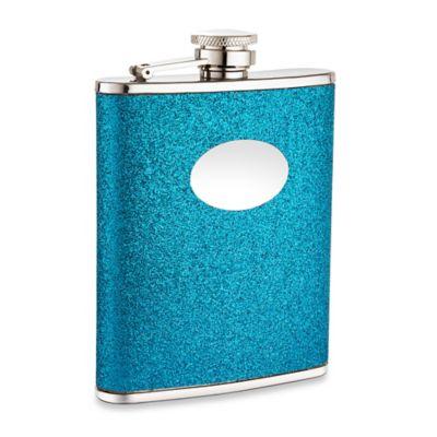 6 oz. Glitter Flask in Blue