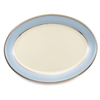 16 Blue Oval Platter