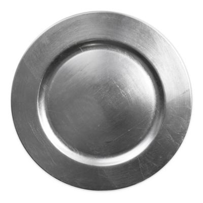 Charge It by Jay Round Charger Plate in Silver