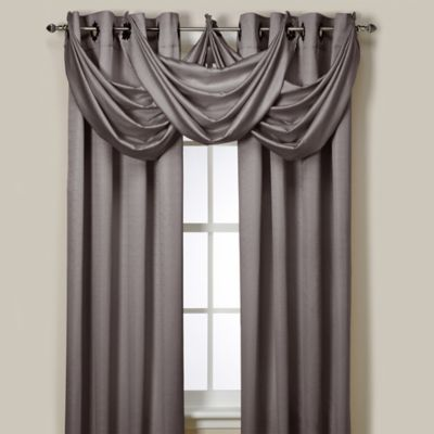 Insola® Odyssey Insulating Waterfall Window Valance in Grey