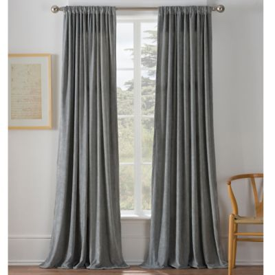 Warren 84-Inch Window Curtain Panel in Grey