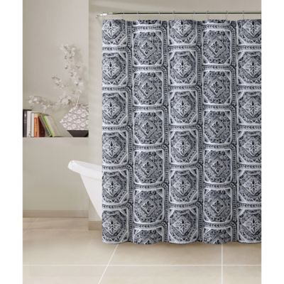 Simple Black and White Shower Curtains