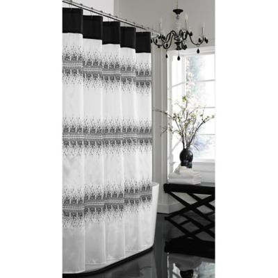 White Black Fabric Shower