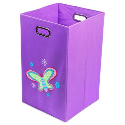 Nuby™ Butterfly Folding Laundry Bin in Purple