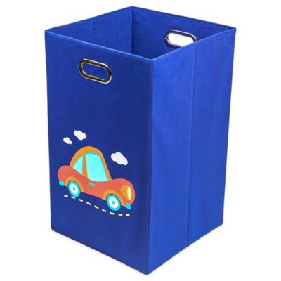 Nuby™ Car Folding Laundry Bin in Dark Blue