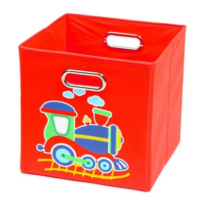 Nuby™ Train Folding Storage Bin in Red