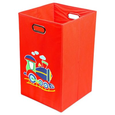 Nuby™ Train Folding Laundry Bin in Red
