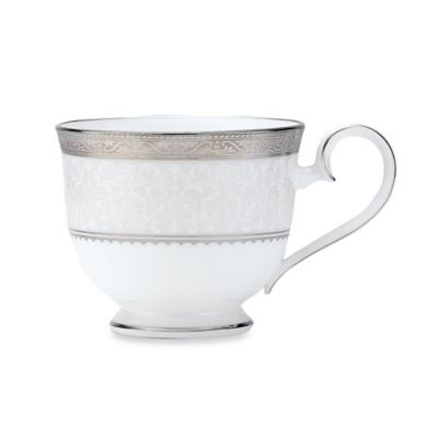 Dishwasher Safe Platinum Teacup