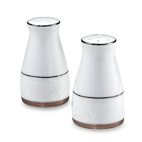 Noritake® Regina Platinum Salt and Pepper Shakers